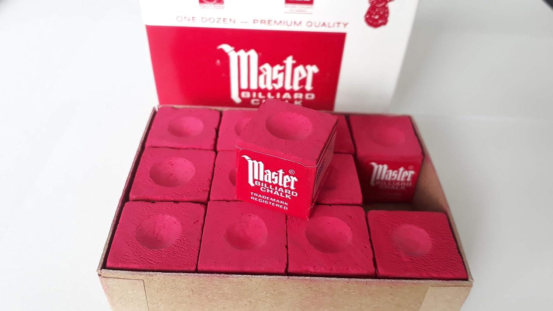 Original USA tiza billar Master, 12 unidades, en caja de cartón ...