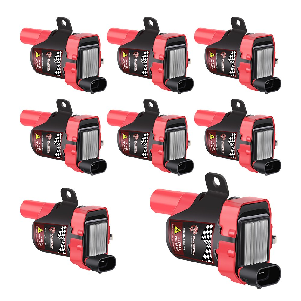 Big-Autoparts High Performance Ignition Coils D585 UF262 C1251 GN10119 For Chevy GMC Buick Hummer Isuzu Cadillac 4.8L 5.3L 6.0L 8.1L V8, Set of 8