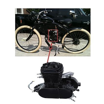 iglobalbuy Negro con ventilación 80 cc 2 tiempos motor Motor bicicleta de montaña para bicicleta carretera Chopper W/V-Frame: Amazon.es: Coche y moto