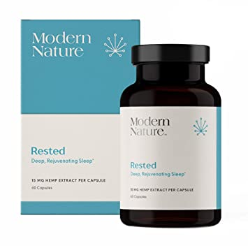 Rested - Natural Sleep Aid Supplement | 60 Capsules | with Melatonin, Valerian Root Extract