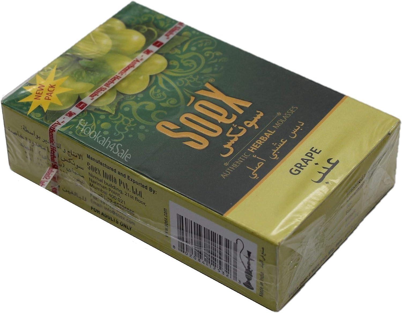Soex Traube pflanzliche Shisha Melasse ohne Nikotin Wasserpfeife 50 g