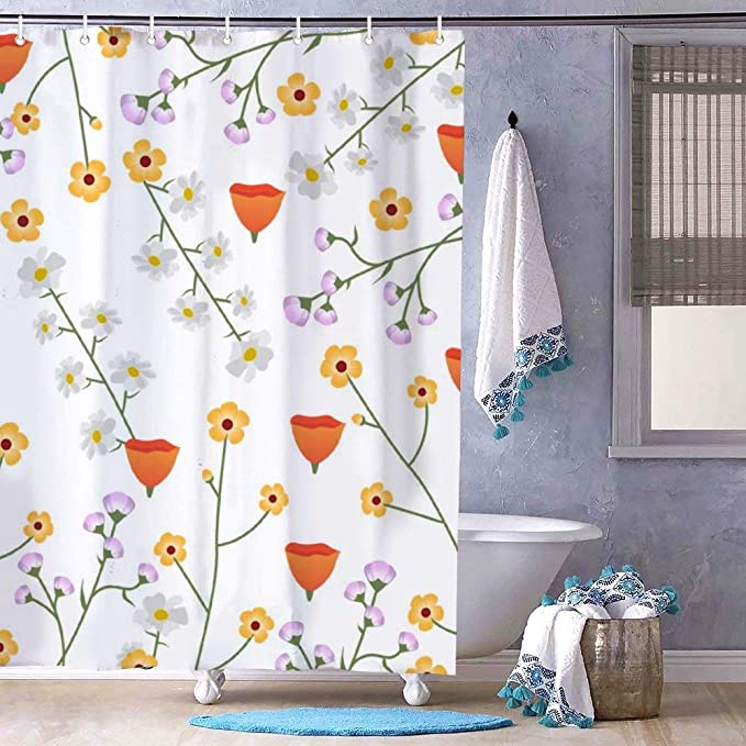 Amazon.com: No branded Bath Curtain Shower Curtain with