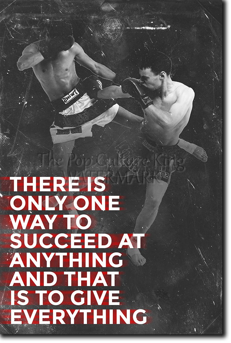 Muay Thai Motivational Poster 10 ''There is only one way to succeed'' Photo Print Art Motivation Quote Gift Thai Thailand - Size: 36 x 24 Inches (HUGE) - 91 x 60 cm by Introspective Chameleon