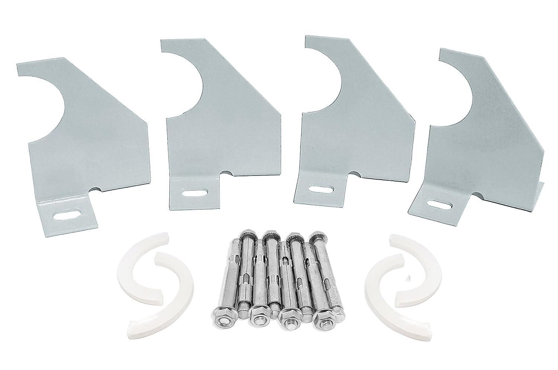 Design vertical à colonnes Bras simple universel Radiateur Supports de fixation - Silver SL Group