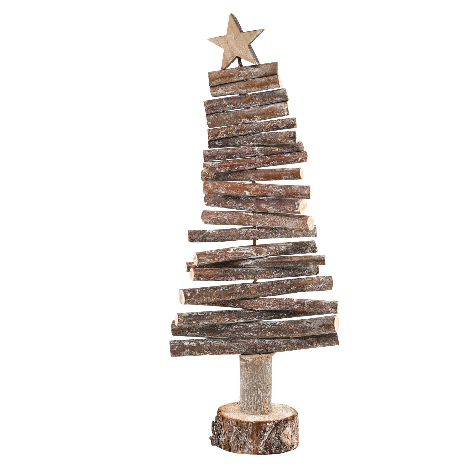 QILICHZ 15'' Rustic Handmade Wooden Dowel Christmas Tree Branch for Christmas Table top Decorations