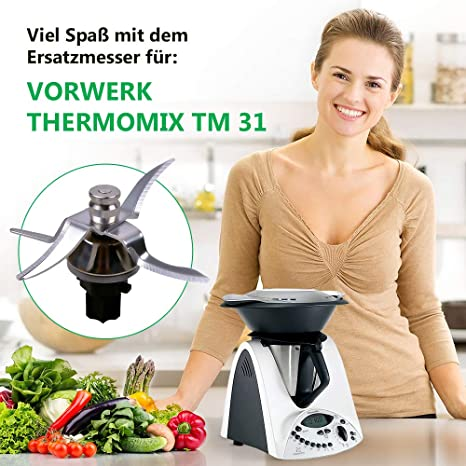 Vorwerk Thermomix alternative sharp replacement blender blade stainless steel for the TM31 kitchen appliance mixing and heating kitchen machine: Amazon.es: Hogar