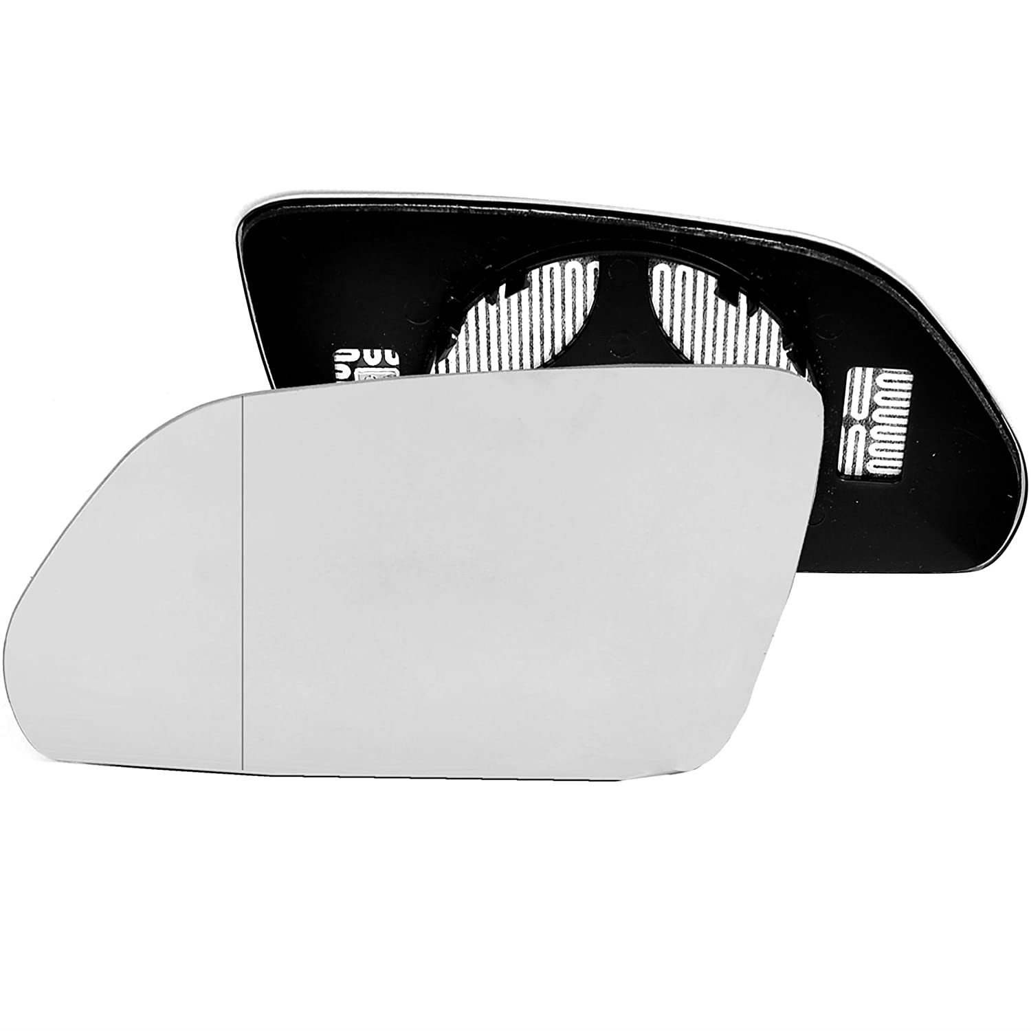Passenger left hand side Heated wing door Silver mirror glass with backing plate #W-SHY//L-SKAOA09 Clip On