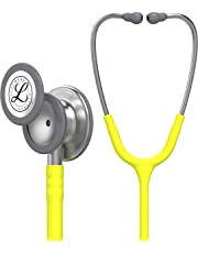3M Littmann Classic III Stethoscope, Stainless-Steel-Finish Chestpiece, Lemon-Lime Tube, 27-Inch (5839)