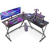 "Casaottima L Shaped Desk, 51"" Gaming Desk, Computer Desk, L Desk, Home Office Desk with Round Corner with Large Monitor Stand"