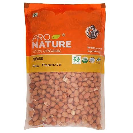 Pro Nature 100% Organic Raw Peanuts, 500g