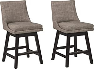 Signature Design by Ashley Tallenger Upholstered Swivel Bar Height Stool Set of 2