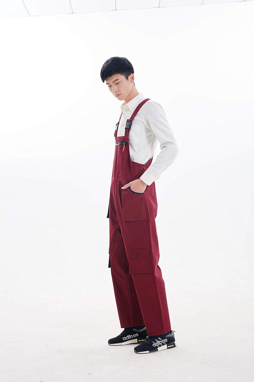 Overalls f/ür M/änner und Frauen legere Mode Huazong Herren-Latzhose schwarz Arbeitslatzhose mit mehreren Taschen