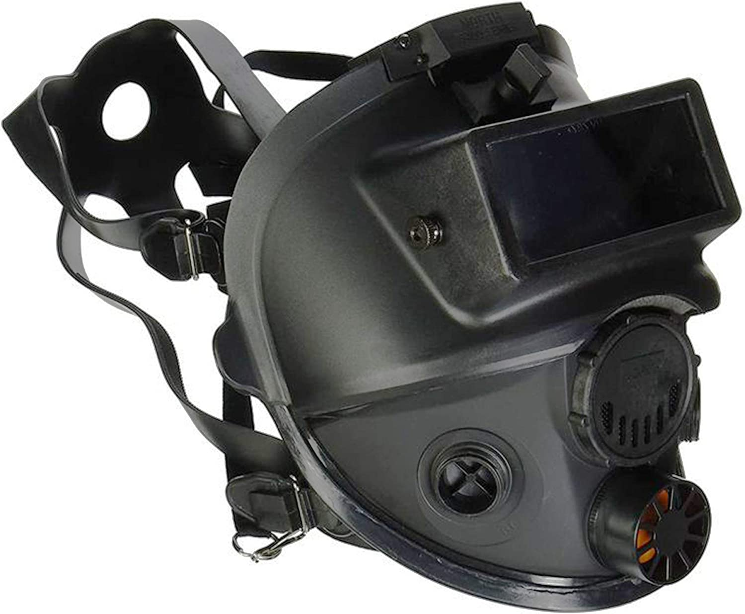 Honeywell North 7600 Series Niosh-Approved Full Facepiece Silicone Respirator With Welding Adaptor, Small (760008ASW)