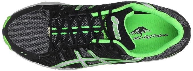 Amazon.com | ASICS Mens Gel Fuji Trabuco Neutral G-Tx Titanium/Silver/Neon Green Trainer T2C0N 9793 7.5 UK | Trail Running
