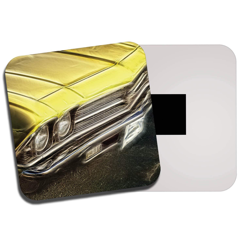 DestinationVinyl Classic American Car Fridge Magnet - Muscle Cars Vehicle Men's Yellow Gift #8652