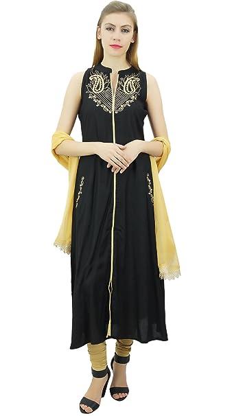 Amazon.com: Atasi Rayon - Traje de mujer con bordado étnico ...