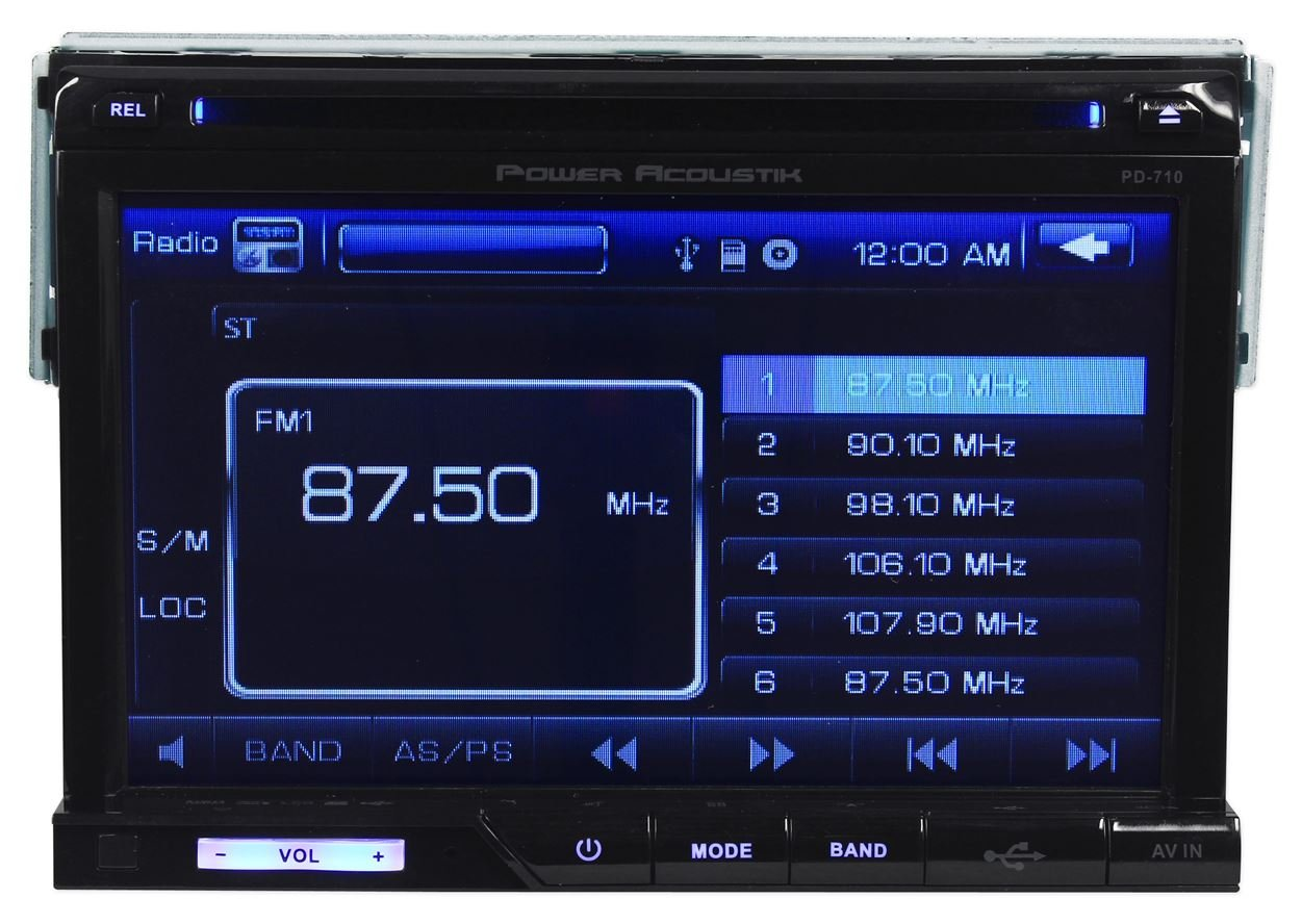"Amazon.com: Power Acoustik PD-710 7"" Single Din In-Dash Car DVD/CD/MP3  Player Receiver With USB/SD/AV-Aux Inputs and a Wireless Remote: Cell  Phones & ..."
