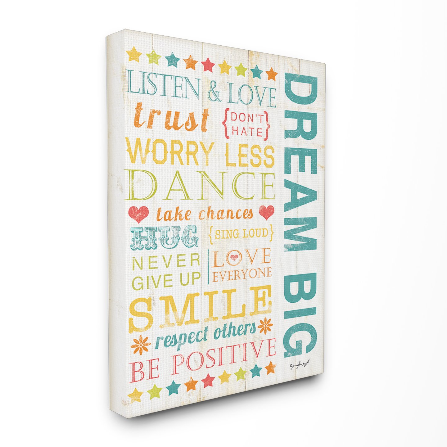 The Kids Room by Stupell Dream Big Typography Rectangle Wall Plaque, 11 x 0.5 x 15, Proudly Made in USA brp-1387