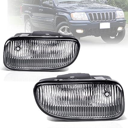 fog lights for jeep grand cherokee 1999 2000 2001 2002 2003 (oe style clear  lens w/ h12 12v 53w bulbs), fog lights - amazon canada