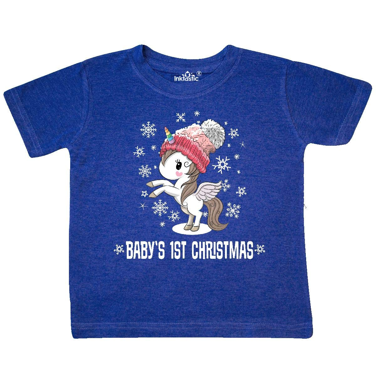 inktastic Babys 1st Christmas Unicorn Girls Toddler T-Shirt