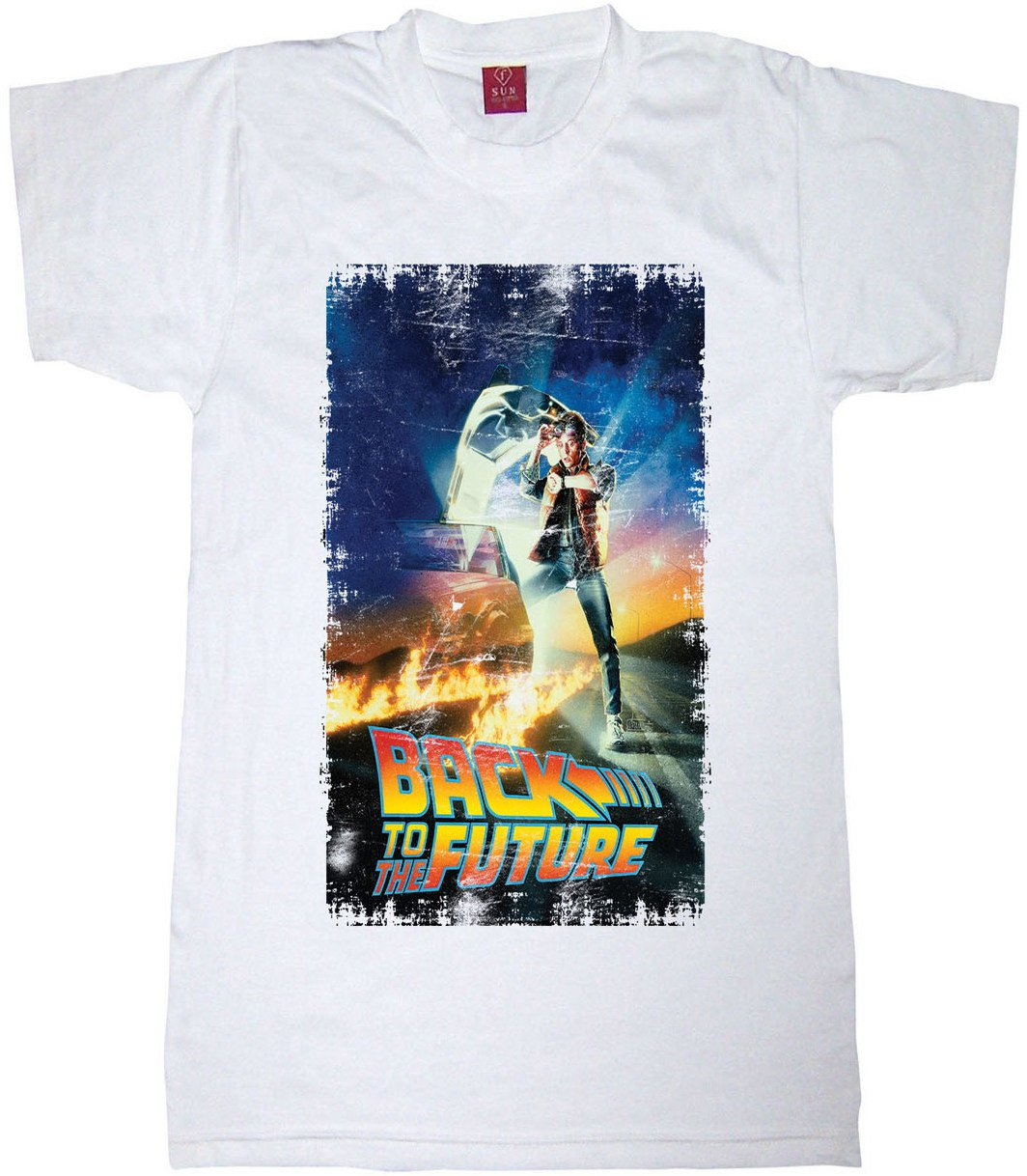 Back To Future Shirt Back To The Future Design Retro Poster Size XL