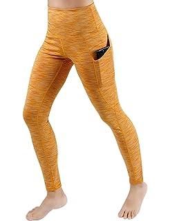 0125e04b09acb ODODOS High Waist Out Pocket Yoga Capris Tummy Control Workout Running 4  Way Stretch Yoga Pants