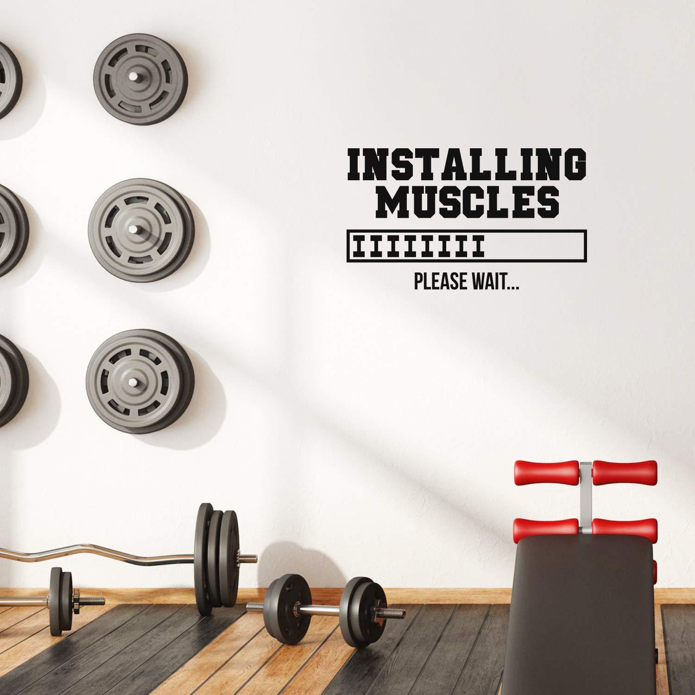 Vinyl Wall Art Decal - Installing Muscles - 17