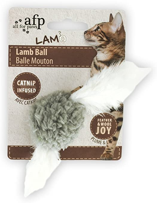 Cordero pelota con pájaro Sonido – Gato juguete – Gris: Amazon.es ...