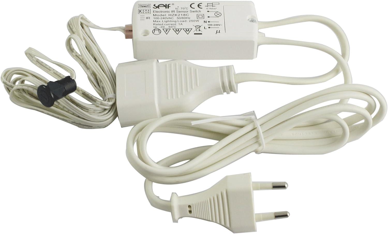 Interrupteur /à d/étecteur de mouvement infrarouge sans contact pour le montage sallume par seul puissance 250 w