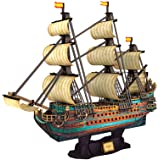 """CubicFun The San Felipe Model Ship Kits 3D Puzzle 25.6"""" for Adults and Teens, Stress Relief Hobby Cool Decoration Birthday Gi"""
