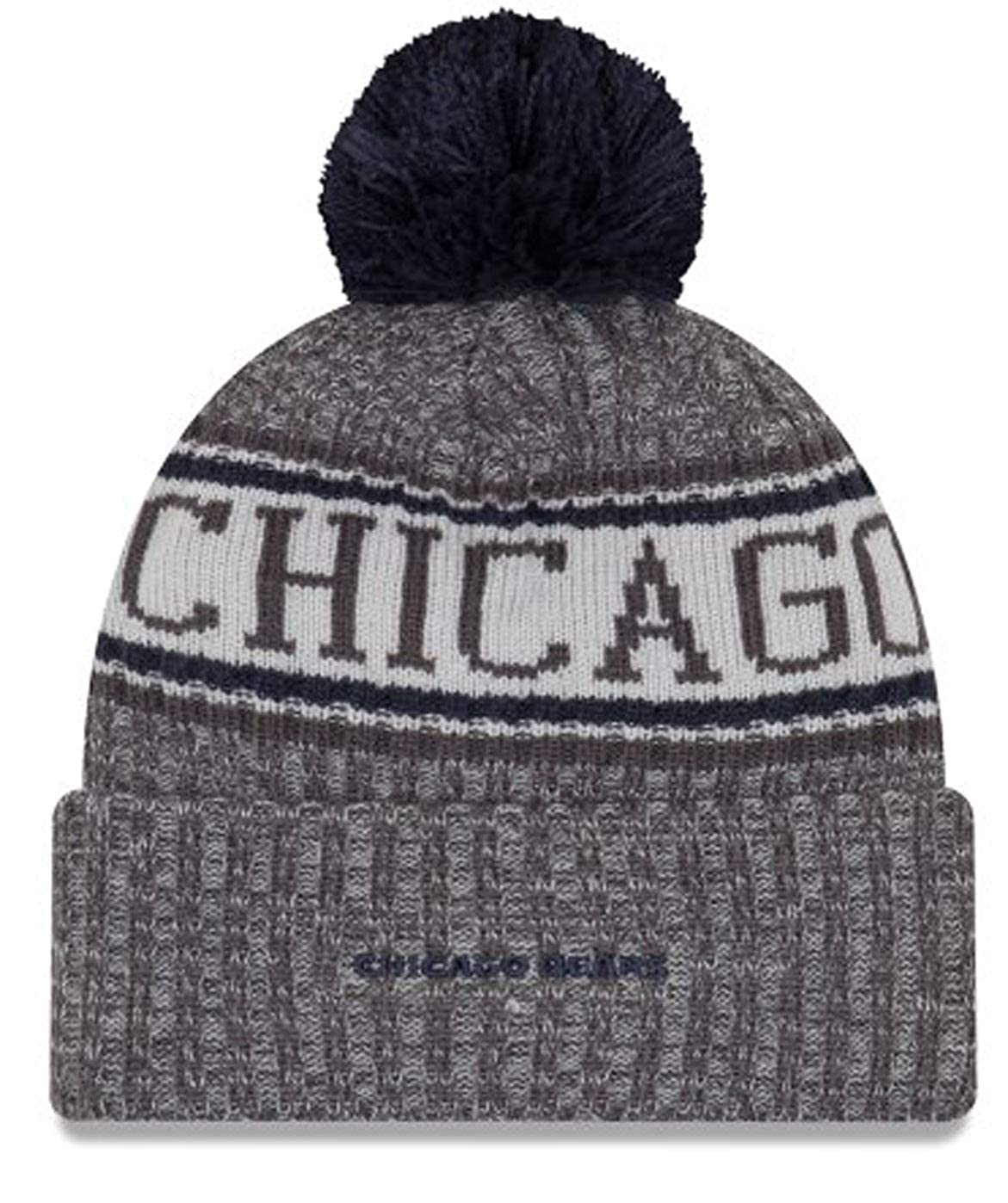 best service 03ff0 393d4 New Era Chicago Bears Classic Historic Gray Graphite 2018 Sport Knit NFL  Beanie, OSFM at Amazon Men s Clothing store