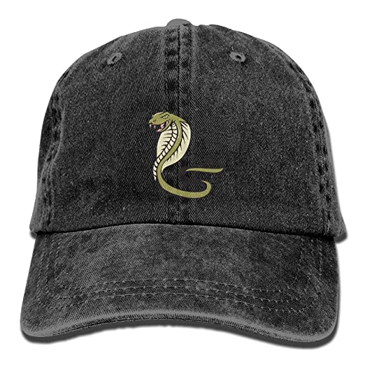 2308c20266 ONE-HEART HR Cobra Snake Stylish Baseball Caps Denim Adjustable Hats at  Amazon Men s Clothing store