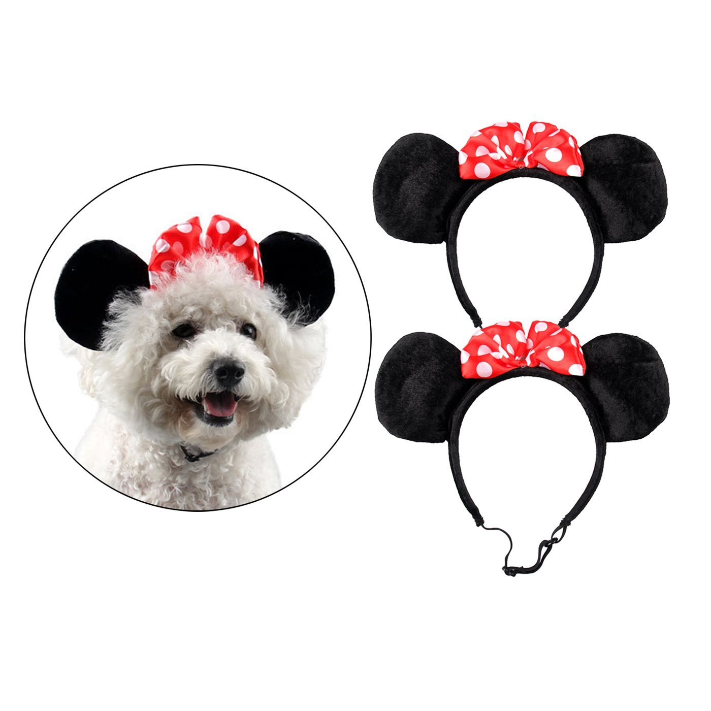 Alfie Pet by Petoga Couture - Percy 2-piece Set Minnie Hat Band for Halloween or Special Events (for Small Dogs & Cats)