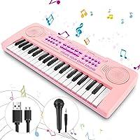 Magicfun Mini Teclado Electrónico Piano Juguete, 37 Teclas Teclado Piano con Micrófono, Sonidos de Animales, Batería y…