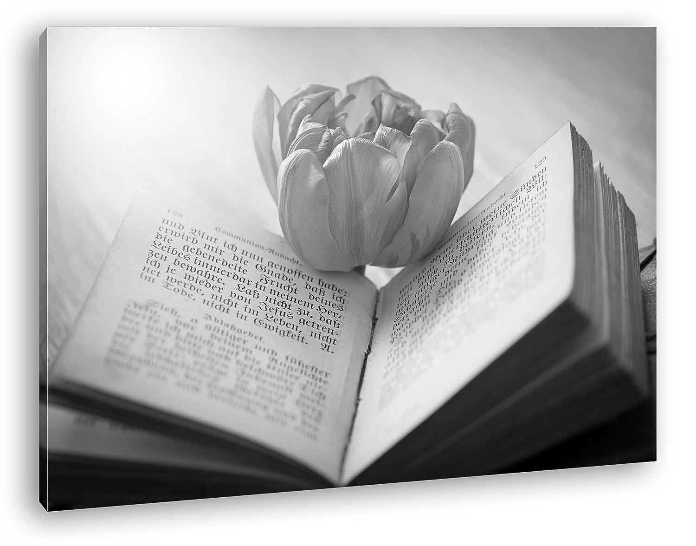 Flor amarilla en un libro antiguo efecto: Negro/Blanco Como ...