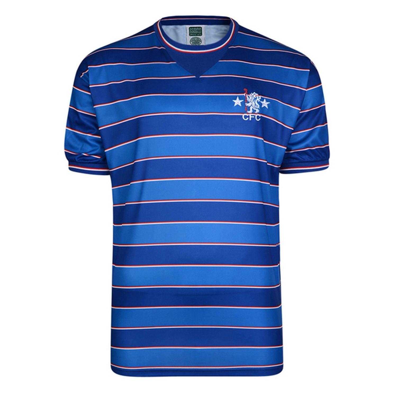 Chelsea FC Mens Official Football 1984 Retro Short Sleeve Shirt