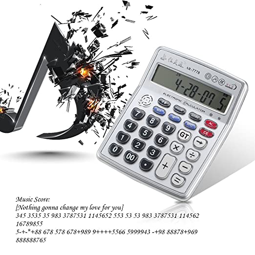 Walmeck Musical Function Calculator Portable 12-Digits LCD with ...