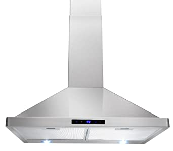 AKDY 30u0026quot; Kitchen Wall Mount Stainless Steel Touch Panel Control Range  Hood AZ63175S Stove Vents