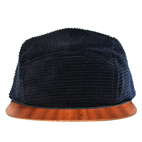 a6ec85de3cbe9 Black Cap with unique wooden brim - Made in Germany - Corduroy hat - Light  weight   comfortable - Unisex - One size fits all Snapback