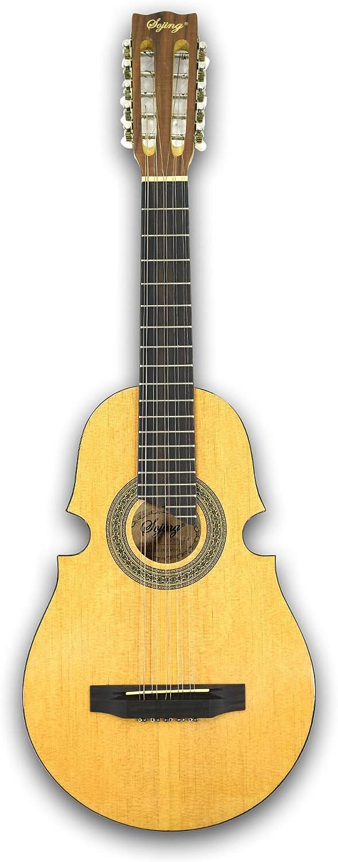 Guitarra acústica de 10 cuerdas con diseño de cuatro ...