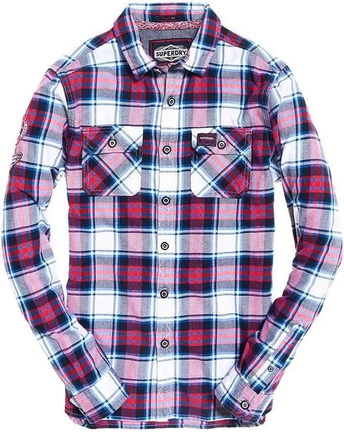 Superdry Camisa Lumberjack Blanco: Amazon.es: Deportes y aire libre