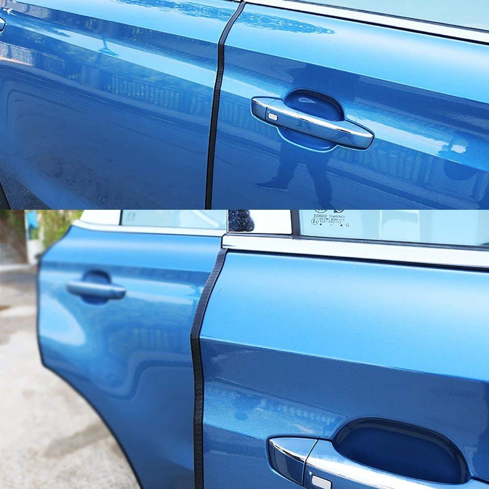 Glass Boat and Grip Range Car Door Edge Guard U Shape Rubber Edging Protector Strip for Metal Fit 2.5mm thickness edge 2 Packs Total 10 Meters