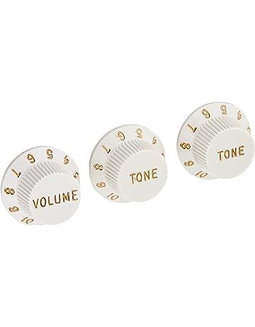 Fender Strat Knobs One Volume, Two Tone, White