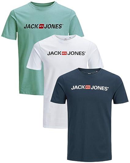 3er InklWäschenetz Fit Tee Shirt Rundhals Jones Pack Mix Jackamp; Regular Herren T XZuPki