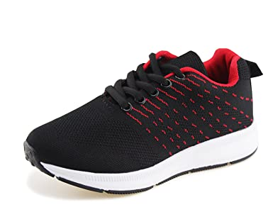 148844956 Jabasic Kids Knit Shoes Boys Girls Lightweight Lace Up Trail Running  Sneakers(9