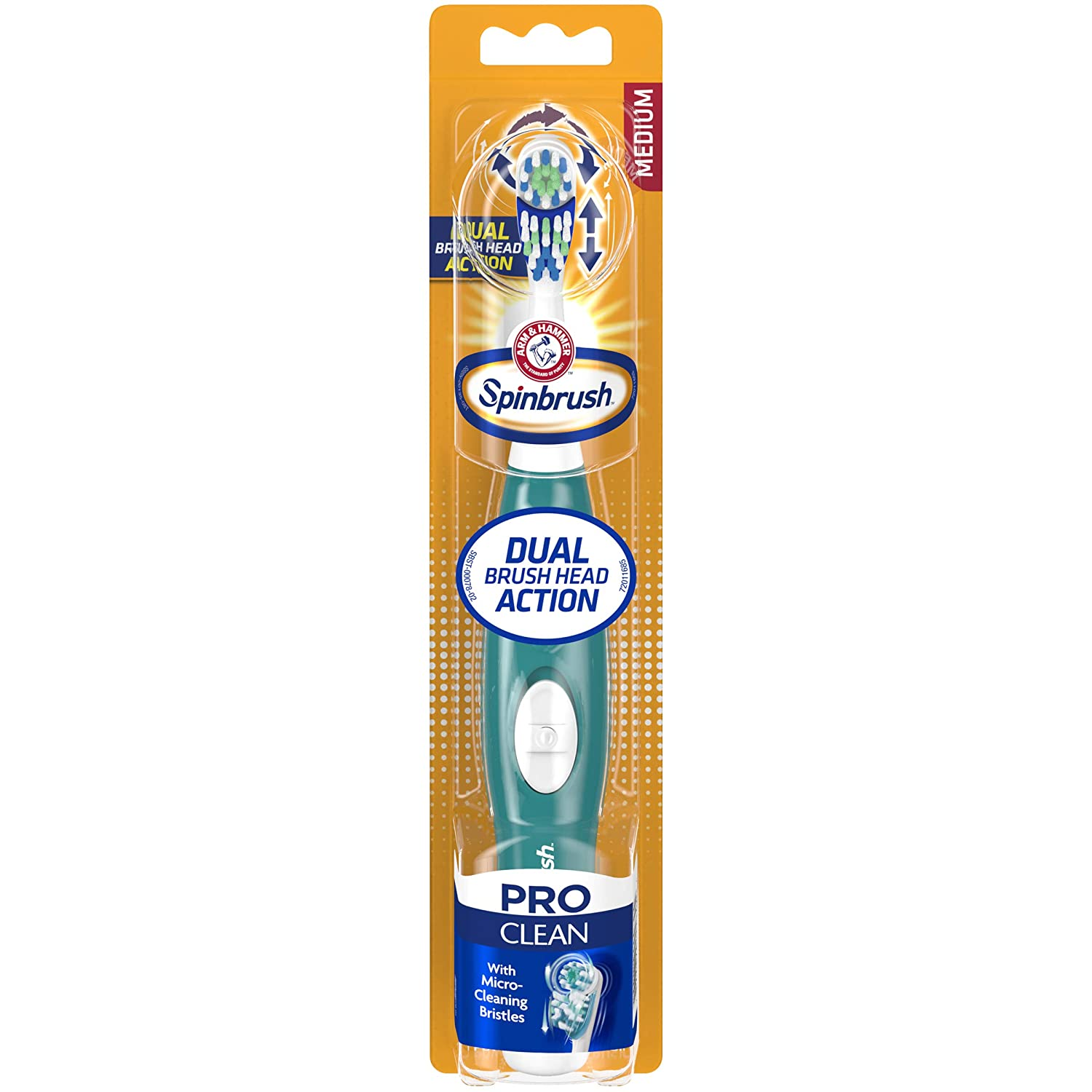 ARM & HAMMER Spinbrush Pro Series Daily Clean Powered Toothbrush Medium - Color