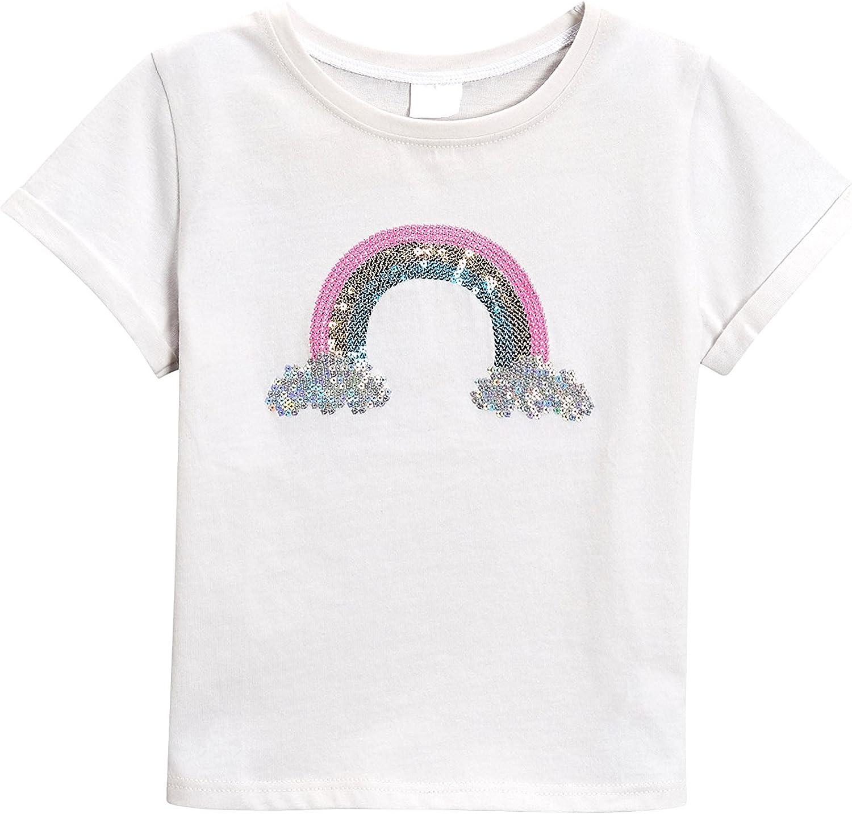 next Niñas Camiseta con Arcoíris De Lentejuelas (3 Meses - 6 Años ...