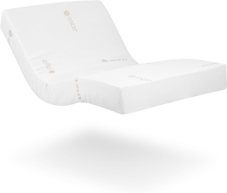 Ferlex - Colchón ortopédico viscoelástico con funda de Tencel | Natural, Fresco e Higiénico | Apto para camas Articuladas y Normales (80x190, 20)