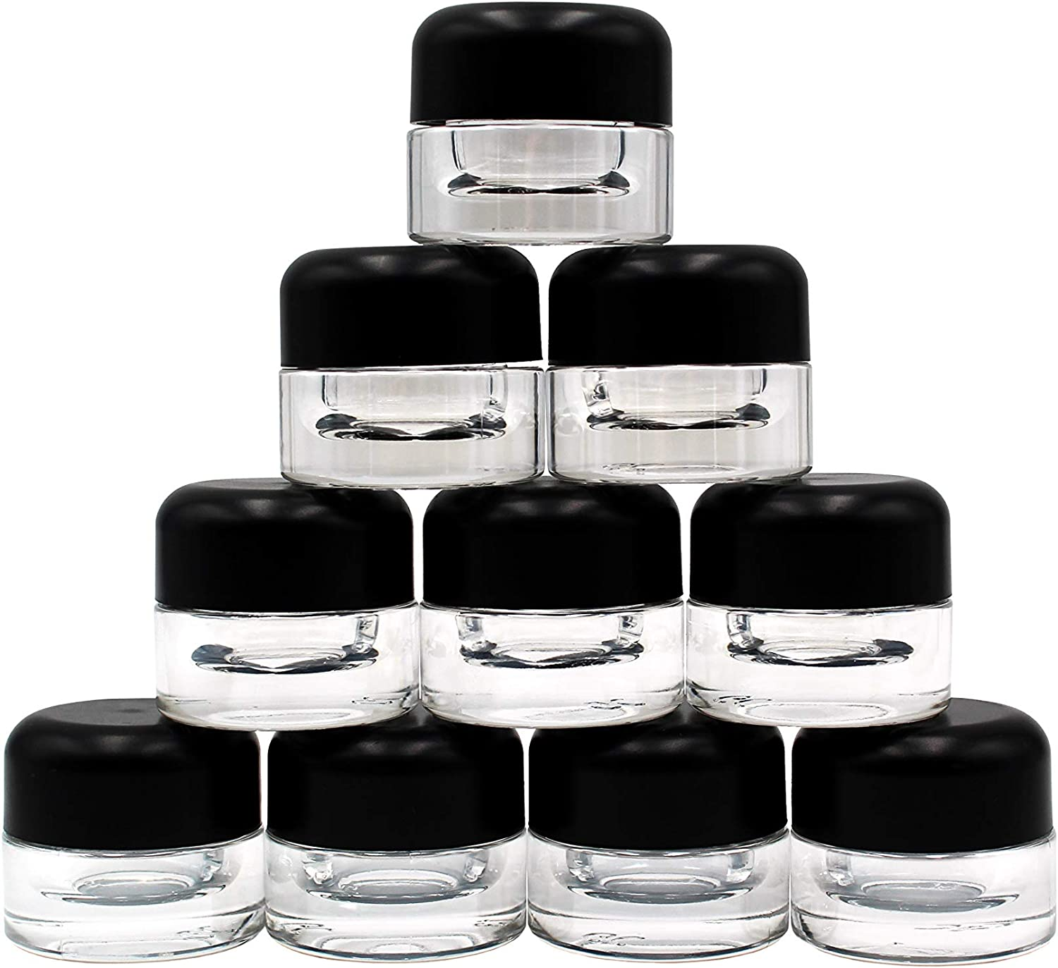 1 Gram Glass Concentrate Jars with Lids, 360 Jars/Lids, GriploK Child Resistant 9 ml Glass Storage Jars, Certified Food Safe Containers for Travel, Cosmetic, Makeup, Herbs, Spices, Oils, Creams, More…