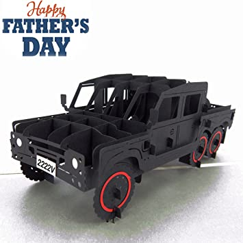 Amazon Fathers Day Gift 3d Pop Up Greeting Card Truck Card For